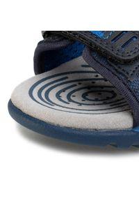 Niebieskie półbuty Geox z cholewką, na spacer, na rzepy