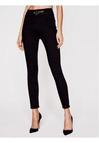 Czarne jeansy slim Elisabetta Franchi