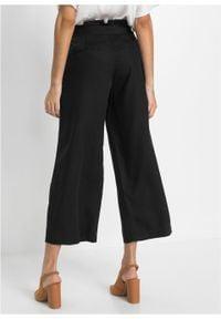 Spodnie culotte TENCEL™ Lyocell bonprix czarny. Kolor: czarny. Materiał: lyocell