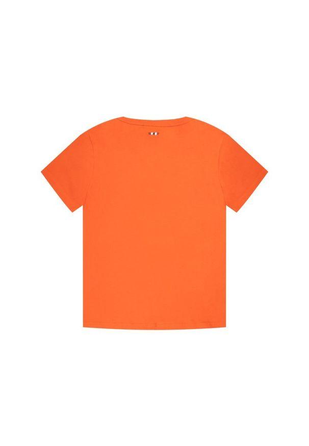 Pomarańczowy t-shirt Napapijri