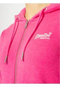 Różowa bluza Superdry