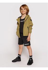 Calvin Klein Jeans Kurtka przejściowa Monogram Badge IB0IB00856 Zielony Regular Fit. Kolor: zielony