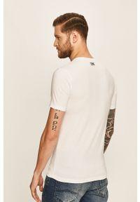 Biały t-shirt Karl Lagerfeld z nadrukiem