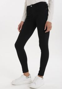 Born2be - Czarne Jeansy Skinny Loraene. Kolor: czarny. Materiał: jeans