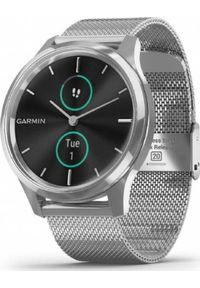 GARMIN - Zegarek sportowy Garmin Garmin Vivomove Luxe Silver-Black Milanese Type Metal With Silver Strap EU. Styl: sportowy