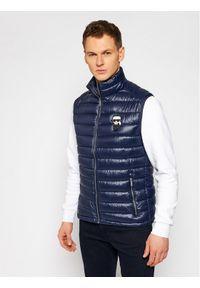 Niebieska kamizelka Karl Lagerfeld z dekoltem karo