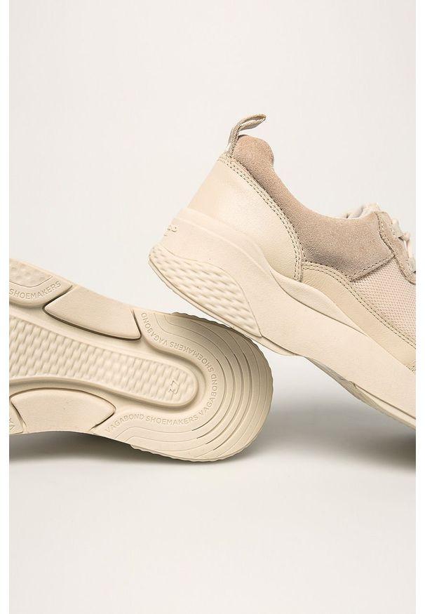 Kremowe buty sportowe vagabond na sznurówki, z cholewką