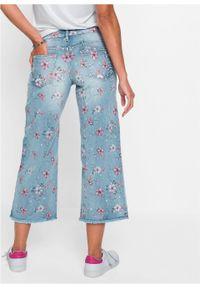 "Dżinsy culotte bonprix niebieski ""bleached"". Kolor: niebieski #4"