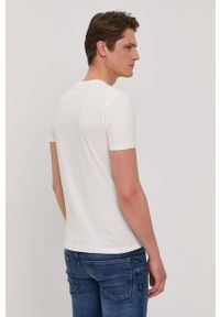 Pepe Jeans - T-shirt Manu. Okazja: na co dzień. Kolor: biały. Wzór: nadruk. Styl: casual
