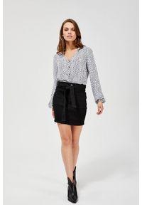 MOODO - Spódnica mini. Materiał: bawełna, poliester, jeans, elastan. Wzór: gładki