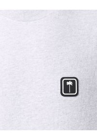 PALM ANGELS - T-shirt z czarnym logo. Kolor: szary. Materiał: bawełna. Wzór: aplikacja. Styl: klasyczny