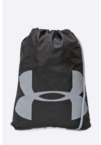 Czarny plecak Under Armour z nadrukiem