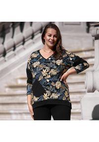 Złota bluza Moda Size Plus Iwanek na jesień, krótka