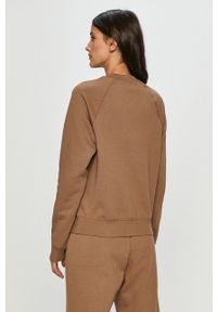 Samsoe & Samsoe - Samsoe Samsoe - Bluza. Okazja: na co dzień. Kolor: brązowy. Materiał: bawełna. Długość rękawa: raglanowy rękaw. Styl: casual