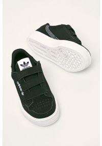 Czarne buty sportowe adidas Originals z cholewką, na rzepy, z okrągłym noskiem