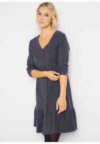 Sukienka dżinsowa bonprix szary. Kolor: szary