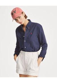 Ralph Lauren - RALPH LAUREN - Koszula Relaxed Fit. Typ kołnierza: polo. Kolor: niebieski. Materiał: materiał. Długość rękawa: długi rękaw. Długość: długie. Wzór: haft. Styl: klasyczny