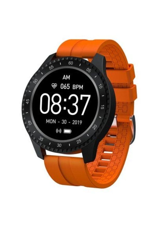 Pomarańczowy zegarek GARETT smartwatch, sportowy