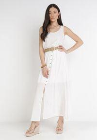 Born2be - Biała Sukienka Cherinoe. Kolor: biały. Długość rękawa: na ramiączkach. Długość: maxi