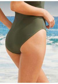 Kostium kąpielowy shape Level 1 bonprix khaki. Kolor: zielony
