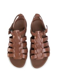 Brązowe sandały ecco