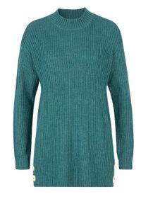 Niebieski sweter bonprix melanż