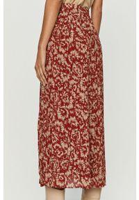 Czerwona spódnica Vila na co dzień, casualowa