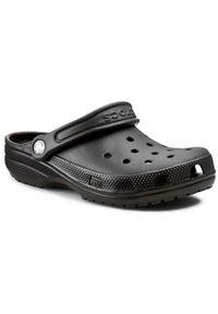 Czarne klapki Crocs na co dzień, casualowe