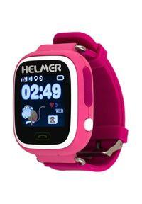 Różowy zegarek Helmer cyfrowy, elegancki