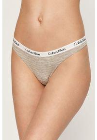 Szare majtki Calvin Klein Underwear z nadrukiem