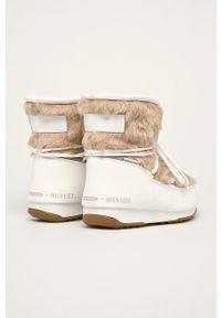 Białe śniegowce Moon Boot z okrągłym noskiem, z cholewką #4