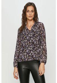 Fioletowa bluzka Haily's długa, w kwiaty
