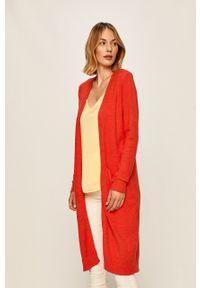 Czerwony sweter rozpinany Vila