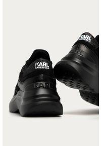 Czarne buty sportowe Karl Lagerfeld na obcasie, na sznurówki, z okrągłym noskiem #5