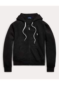 Ralph Lauren - RALPH LAUREN - Czarna bluza z kapturem. Typ kołnierza: kaptur. Kolor: czarny. Materiał: bawełna. Długość rękawa: długi rękaw. Długość: długie. Wzór: haft