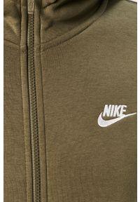 Oliwkowa bluza rozpinana Nike Sportswear z kapturem, casualowa