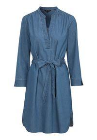 Happy Holly Dżinsowa sukienka Angelina denim blue female niebieski 52/54. Kolor: niebieski. Materiał: denim