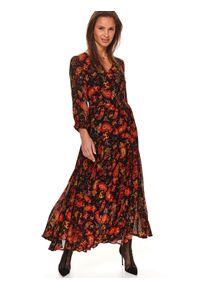 Czerwona sukienka TOP SECRET koszulowa