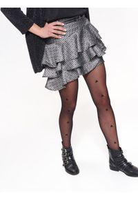 Czarna spódnica TOP SECRET na wiosnę, krótka, w geometryczne wzory