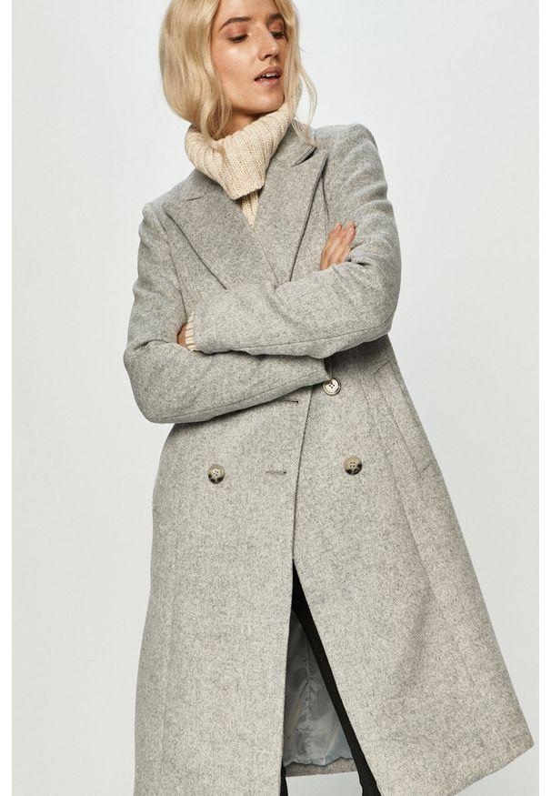 Szary płaszcz Answear Lab bez kaptura, wakacyjny, na co dzień