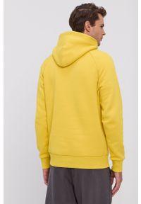 Peak Performance - Bluza. Kolor: żółty. Materiał: bawełna, dzianina. Długość rękawa: raglanowy rękaw. Wzór: gładki