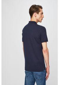 Niebieska koszulka polo Selected casualowa, polo