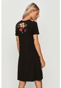 Czarna sukienka Desigual casualowa, prosta, na co dzień