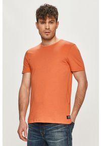 Brązowy t-shirt Tom Tailor na co dzień, casualowy, gładki