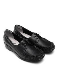 Czarne półbuty PESCO w kolorowe wzory, eleganckie #5