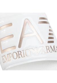 Białe klapki EA7 Emporio Armani