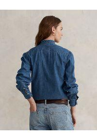 Ralph Lauren - RALPH LAUREN - Jeansowa koszula Straight fit. Typ kołnierza: polo. Kolor: niebieski. Materiał: jeans. Długość rękawa: długi rękaw. Długość: długie