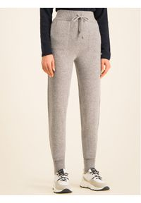TwinSet Spodnie dresowe 192TT3024 Szary Relaxed Fit. Kolor: szary. Materiał: dresówka