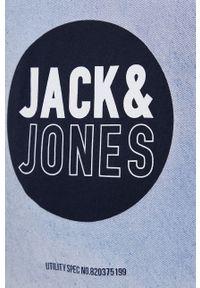Jack & Jones - T-shirt bawełniany. Kolor: niebieski. Materiał: bawełna. Wzór: nadruk