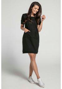 Czarna sukienka Nommo sportowa, sportowa